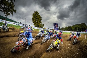 Participants compete during Red Bull Super Champions MX1 finals in Maggiora Park, Novara, Italy, on September 27, 2015