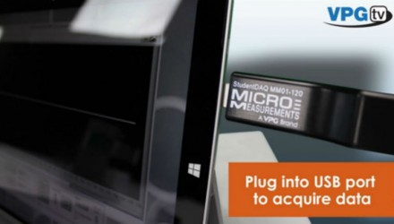 New Micro-Measurements StudentDAQ Version Adds 350 Ω and 1 kΩ Quarter-Bridge Inputs for More Precise Measurement