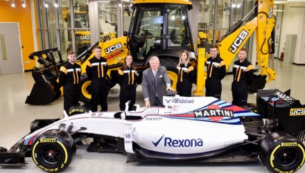Williams Martini Racing partnership to help drive JCB sales