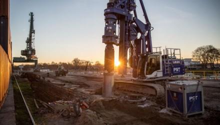Liebherr LB 24-270 Rig Carries out Deep Foundation Work in Gernsheim Port