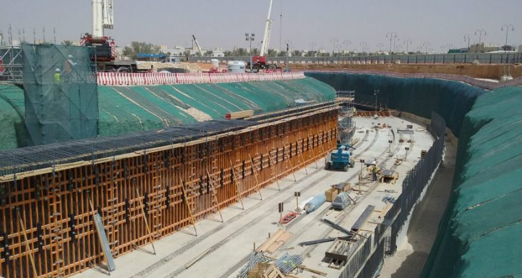 ULMA Construction provided comprehensive formwork and scaffolding systems at Riyadh Metro