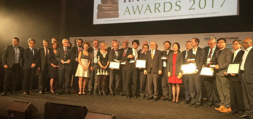 The winners of the ITA Tunnelling Awards 2017 are revealed
