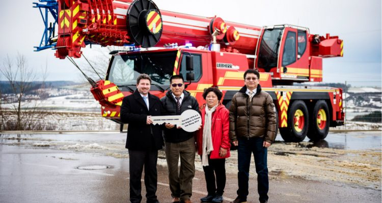 First ever Liebherr LTM 1070-4.2 fire service crane delivered to Taiwan