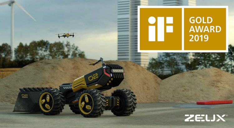 Volvo CE and LEGO Technic futuristic concept wins Gold at iF Design Awards
