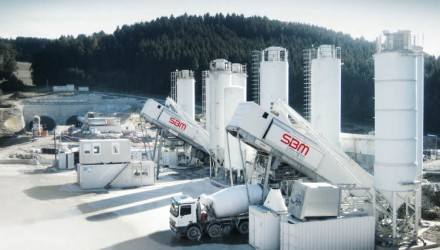 Get to your destination quickly and safely – tunnel construction with SBM concrete mixing plants!
