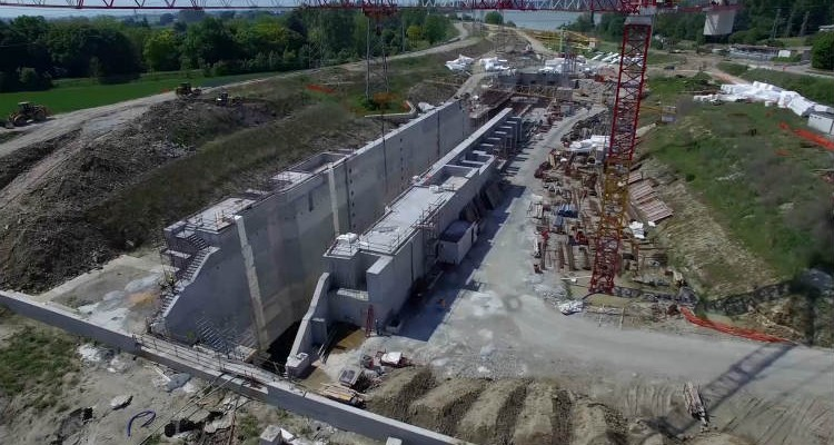ULMA takes part in the construction project of the new lock on the Po River
