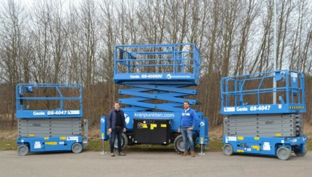 Thirty more Genie Scissor Lifts for Kranpunkten Rental