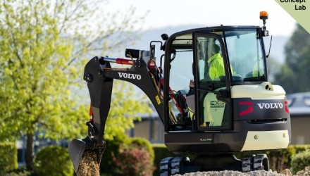 Volvo CE unveils the EX2: 100% electric compact excavator prototype
