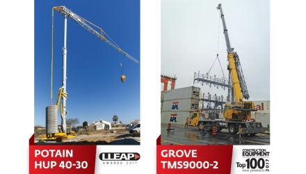 Manitowoc wins two awards for the Potain Hup crane and new Grove truck crane