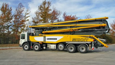 Liebherr unveils new 50 M5 XXT truck mounted concrete pump at the 2018 World of Concrete trade show