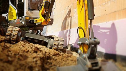 The Vertical Digging System excavators from Wacker Neuson