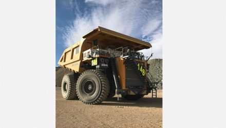 First Liebherr T 284 arrives at the Collahuasi copper mine