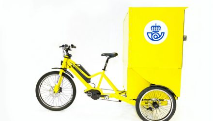 Three-Wheeled E-Cargo Bikes by Bikelecing with Continental Drive Tested by the Spanish Postal Service