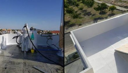 New LINE-X protective coating for waterproofing concrete roofs and surfaces