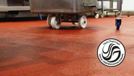 Ucrete industrial flooring achieved Halal certification