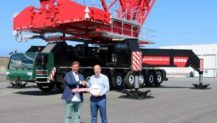 Ibarrondo receives first Liebherr LG 1750 lattice boom mobile crane with new SL20F2 boom system in Spain
