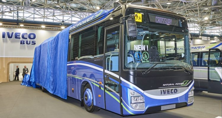 New Crossway Natural Power coach at Autocar Expo