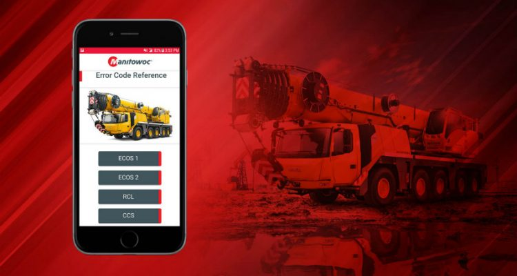 Manitowoc updates its free diagnostic mobile app for Grove and National Crane