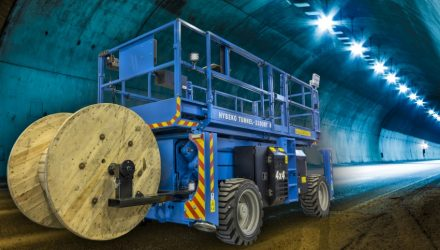 Hybeko introduces new 'Tunnel' rough terrain scissor lift, Norway