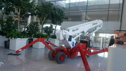 Two 30 meters ECO Spider Lifts at Incheon International Airport in Seoul
