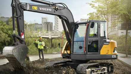 Volvo EC75D seven-ton compact excavator launches in China
