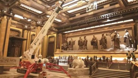 One Palazzani Spider Lift XTJ 32 to build the Han Museum of Culture
