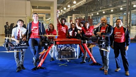 Forvola breaking Guinness World Record of heaviest load carried by a drone