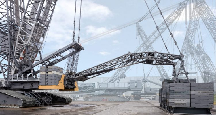 Liebherr LR 1800-1.0 crawler crane proved with 560-tonne test load