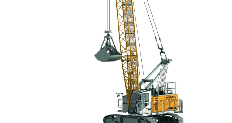 Liebherr presents the newest duty cycle crawler crane type HS 8040 HD