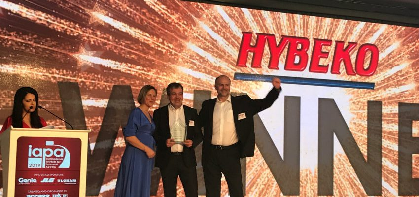 Hybeko Tunnel Lift awarded Product of the Year by IAPAs