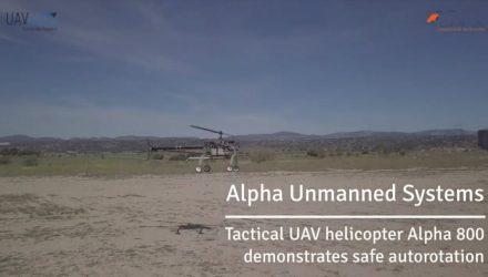 Fully automatic autorotation on the Alpha 800 platform