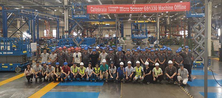 TEREX AWP celebrates milestone Genie GS-1330m production in China
