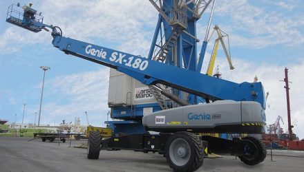 55-m (180-ft) boom lift chosen for heavy Port maintenance, Morocco
