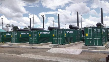 Gas generator power plant in the Ecuadorian Amazon