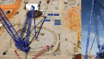 Two of World's Largest Land-Based Super Cranes, Bigge AFRDs for Sale